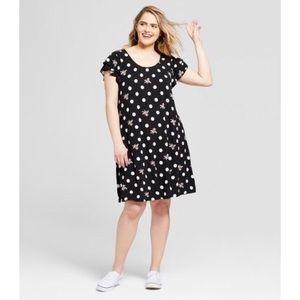 Xhilaration Flutter Sleeve  Print Casual Dress